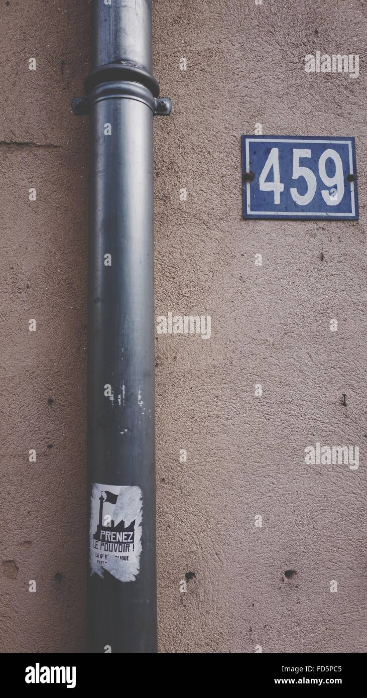 Drainpipe On Wall - Stock Image