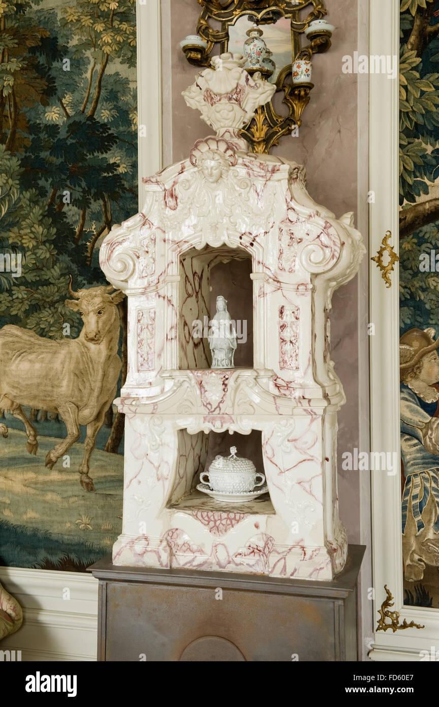 Ceramic altar in Schloss Fasanerie near Fulda in Germany - Stock Image