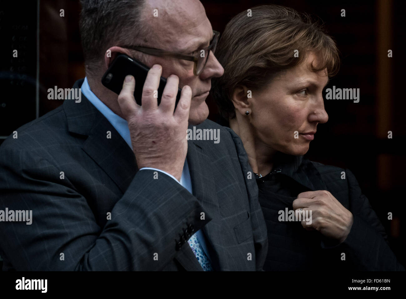 London, UK. 28th Jan, 2016. Marina Litvinenko visits the Home Office with her legal team including Ben Emmerson - Stock Image