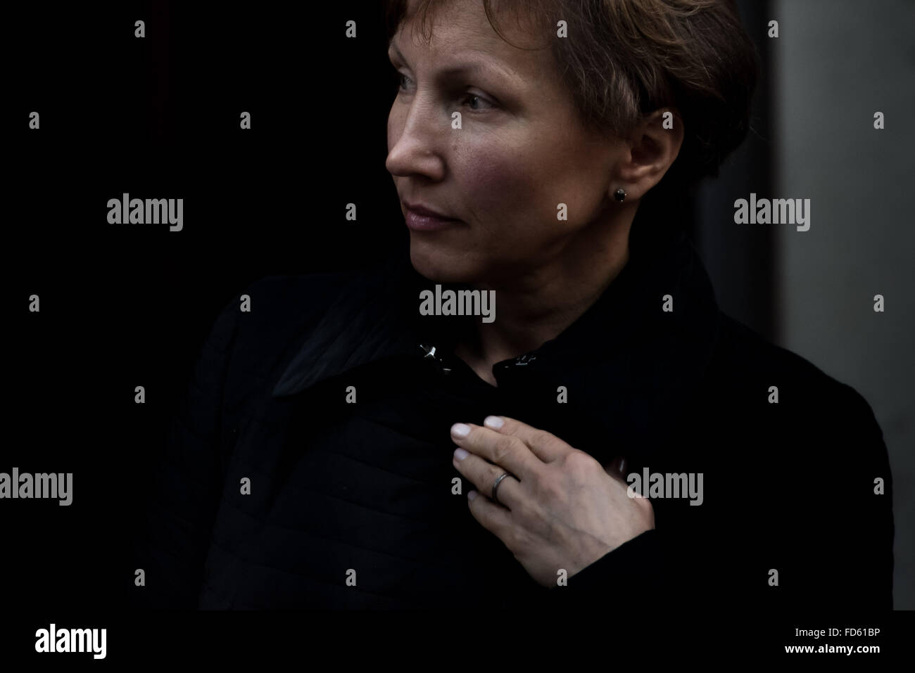 London, UK. 28th Jan, 2016.  Marina Litvinenko visits Home Office to meet the home secretary Theresa May after call Stock Photo