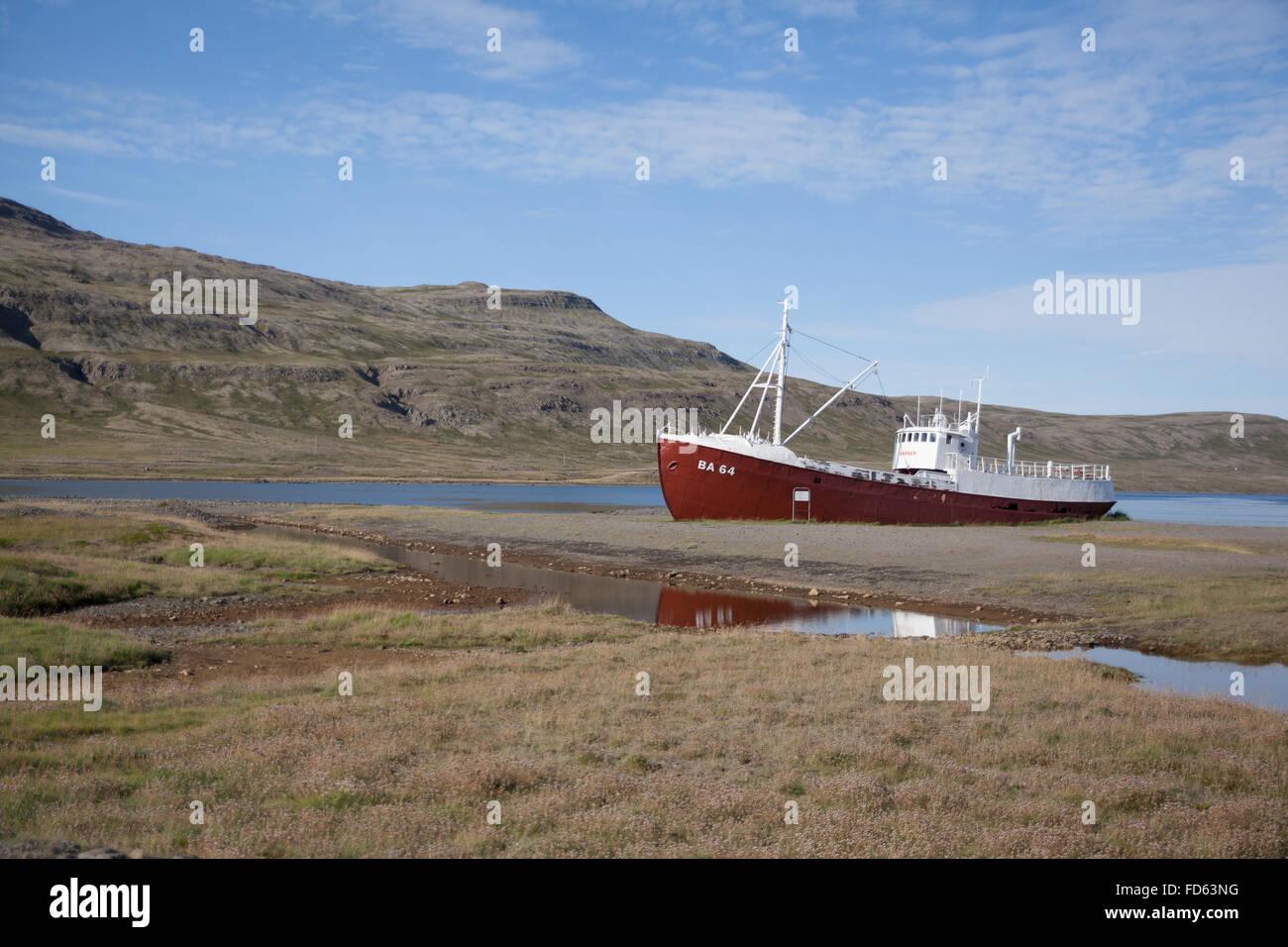 Ship On Shallows Stock Photo