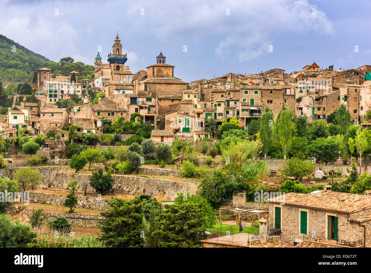 Valldemossa, Mallorca, Spain village. - Stock Image