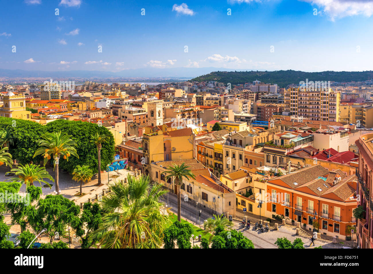 Cagliari, Sardinia, Italy cityscape. - Stock Image