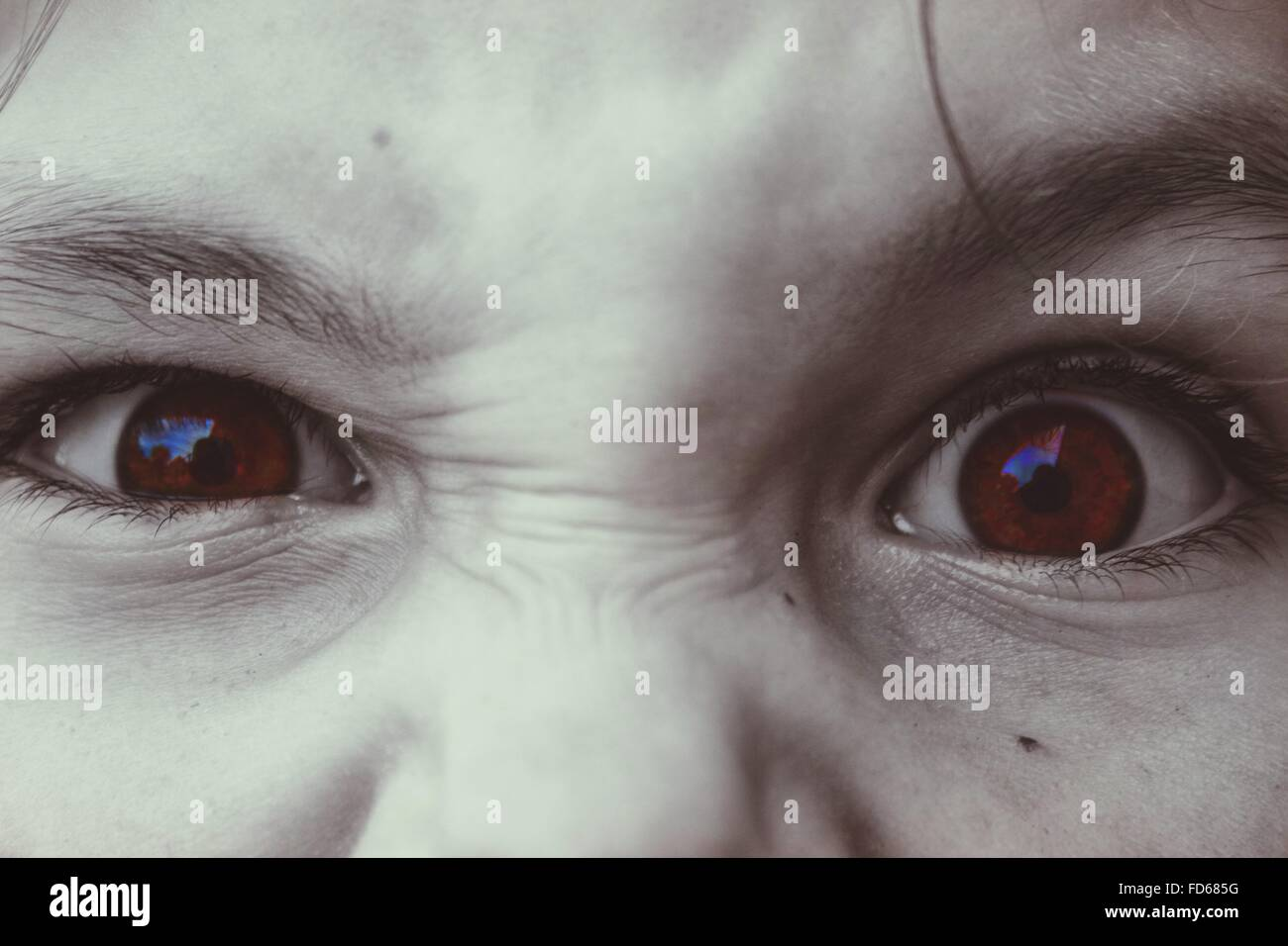 Close-Up Of A Child Eyes - Stock Image
