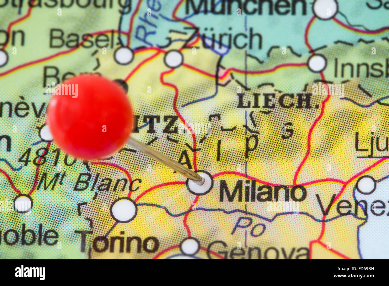 Milan Map Milano Italy Stock Photos & Milan Map Milano Italy Stock ...
