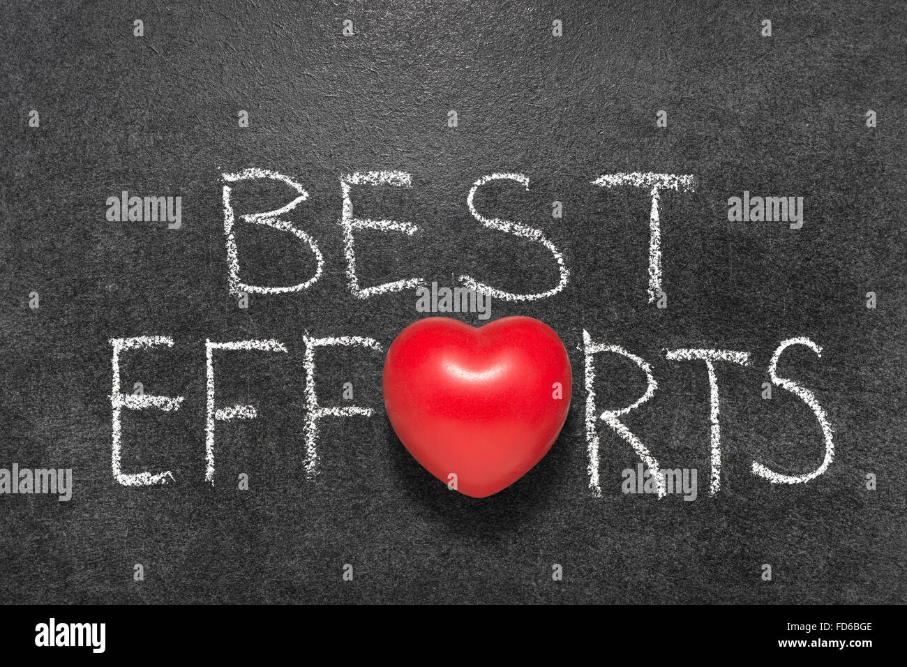 Best Efforts Phrase Handwritten On Blackboard With Heart Symbol