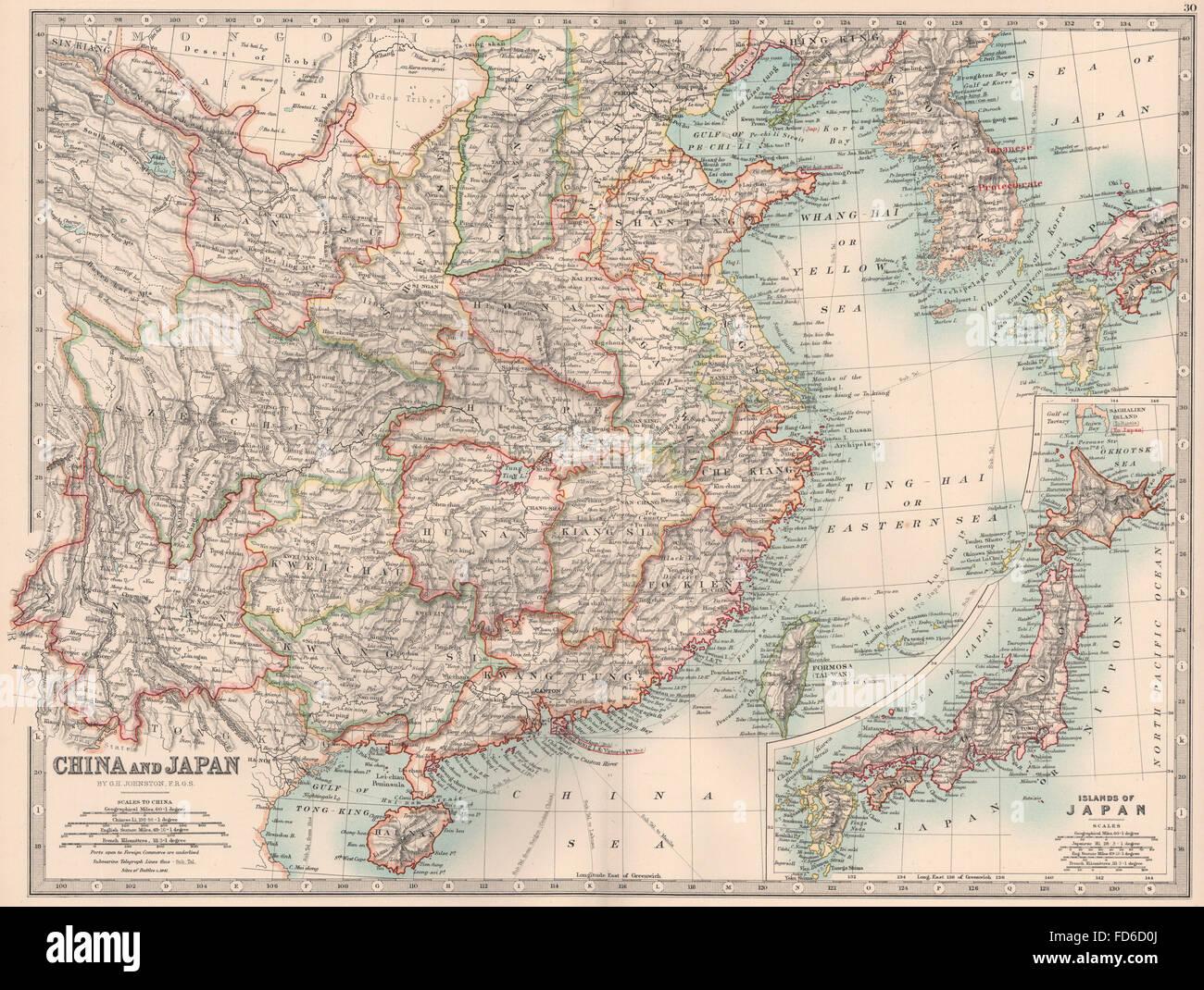 Map Maps Asia Japan China Stock Photos Map Maps Asia Japan China