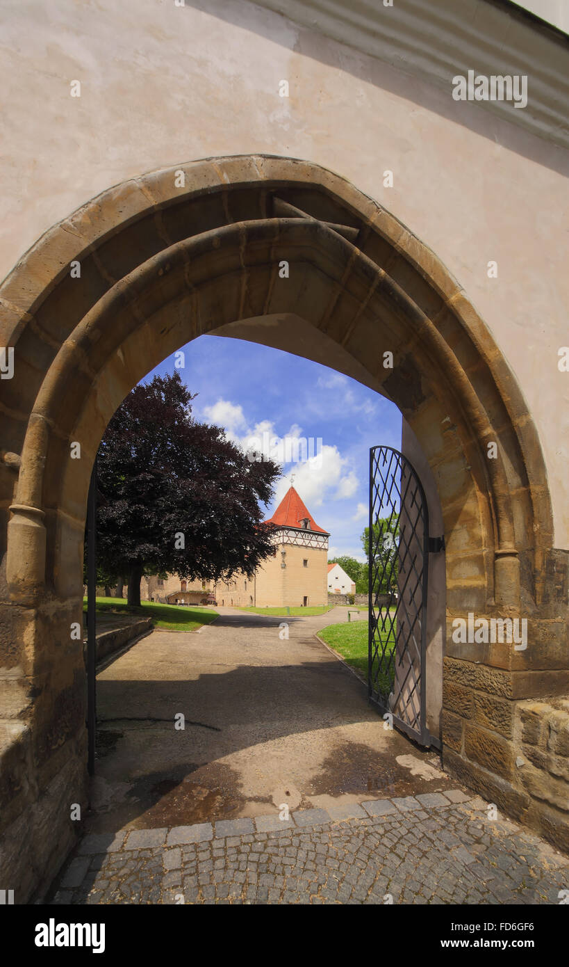 Budyne nad Ohri castle - Czech republic Stock Photo