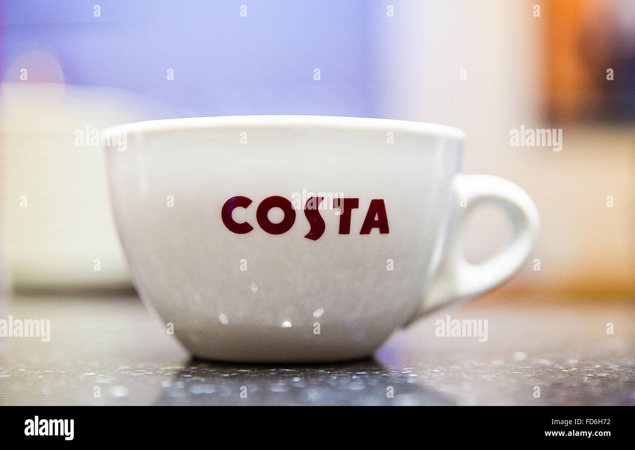 Costa Coffee Cup In A Costa Coffee Shop In London Uk Stock