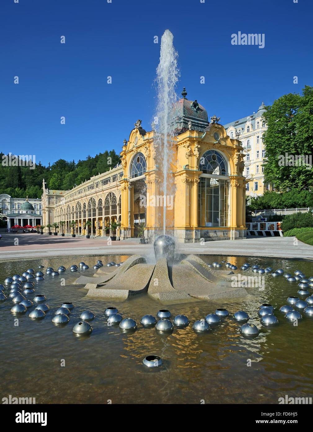 Czech republic - spa town Marianske Lazne - Stock Image