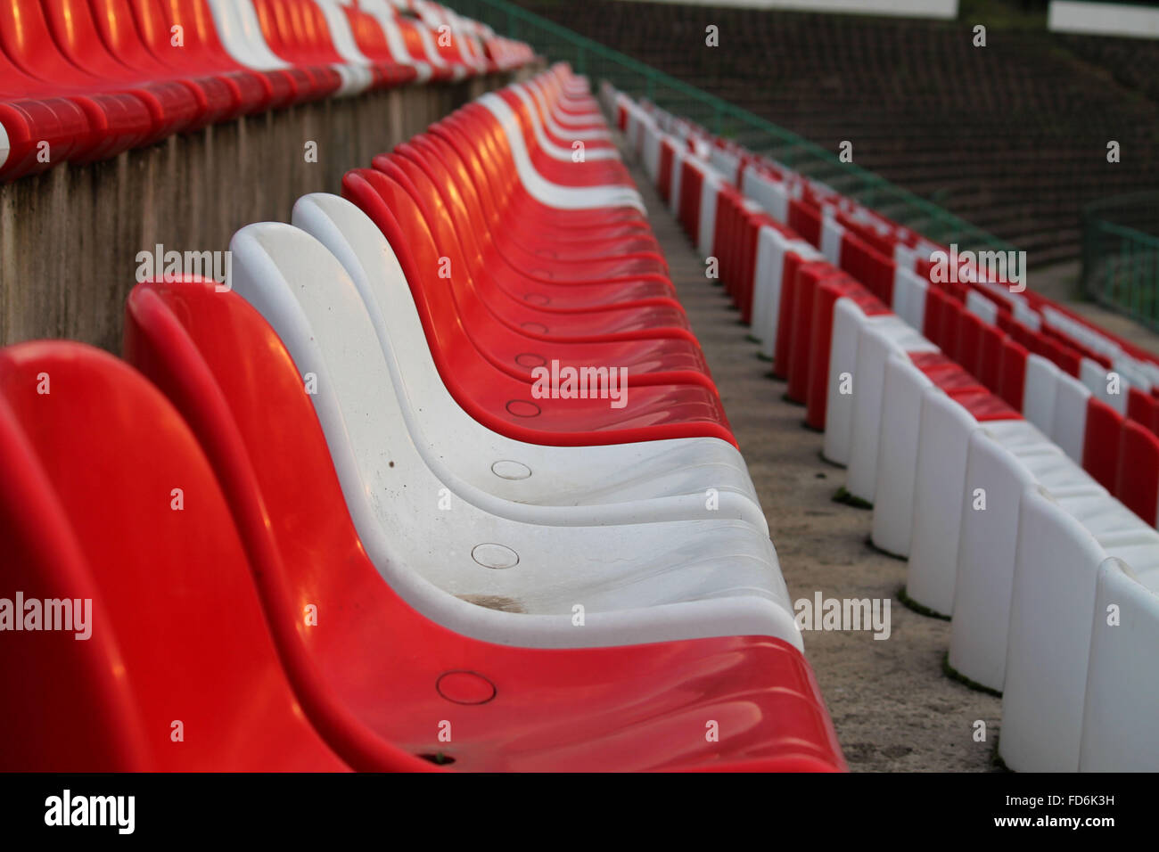 Chairs In A Stadium - Stock Image