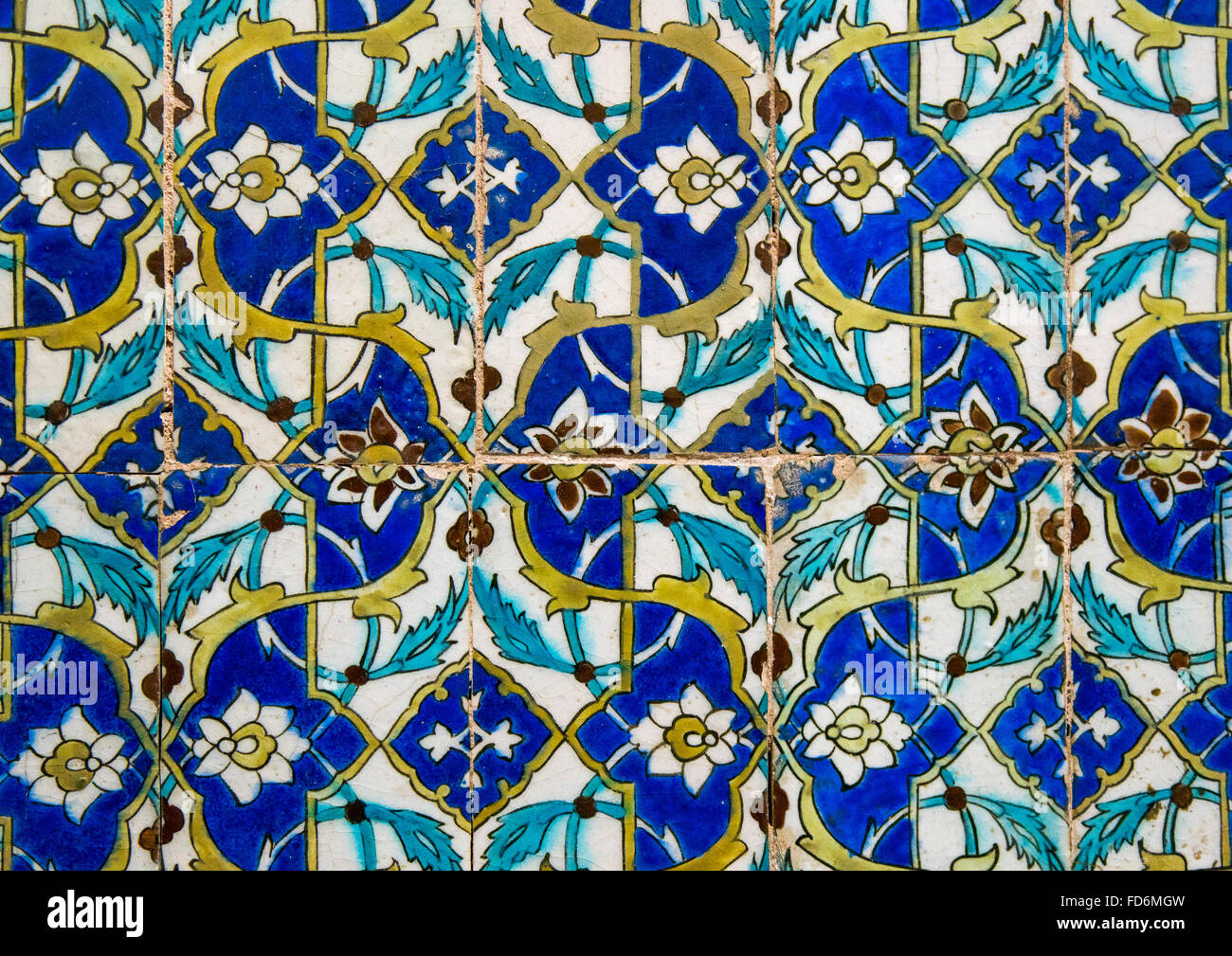 mosaic pattern with ceramic tiles in ganjali khan hammam, Central ...