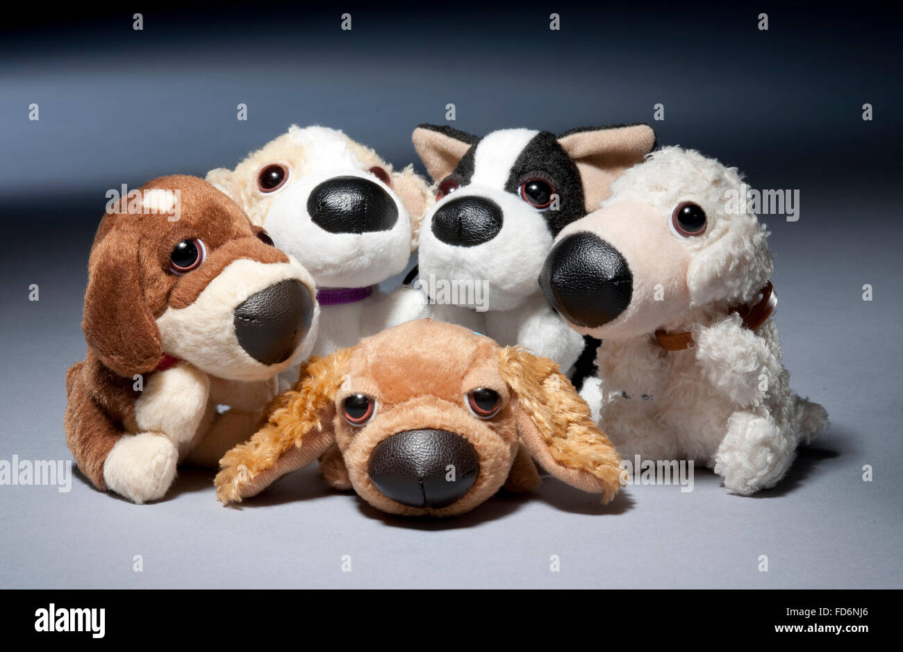 Group of Mcdonalds toy dogs - Stock Image