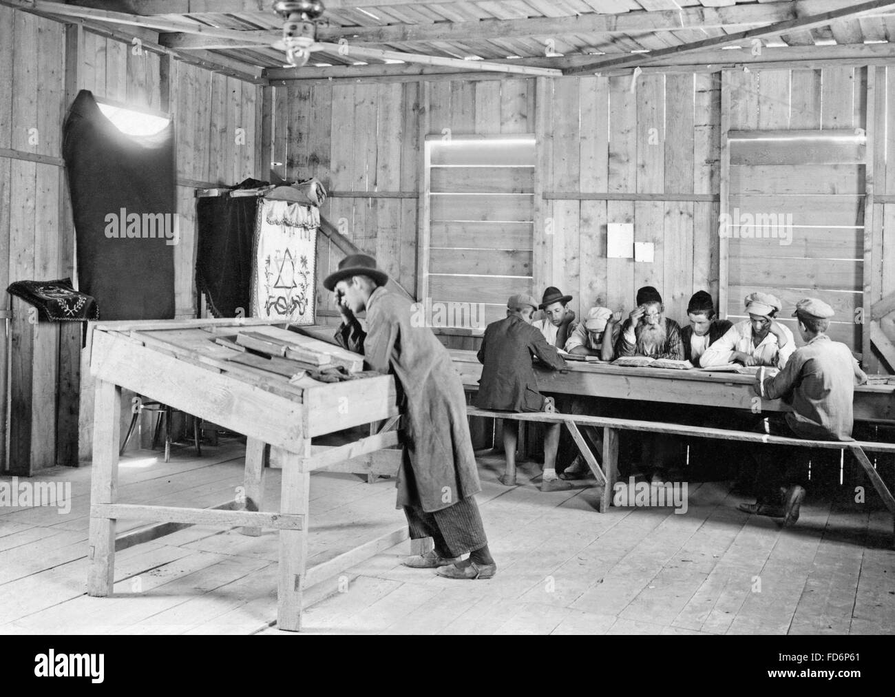 Zionist construction in Israel, 1932 Stock Photo