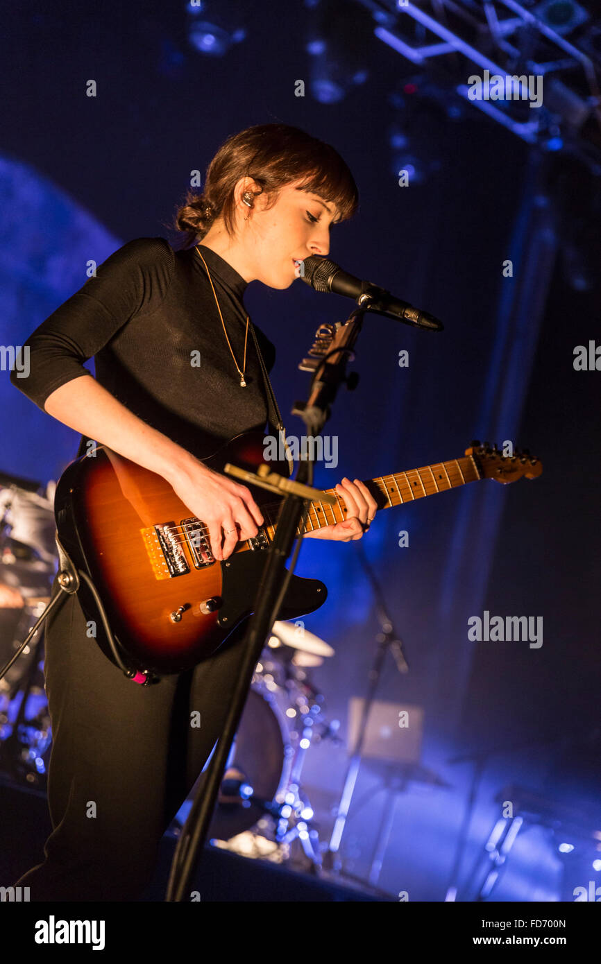 London, UK, 28th Jan 2016. Daughter Live Performance at o2 Kentish Town Forum. © Robert Stainforth/Alamy Stock Photo