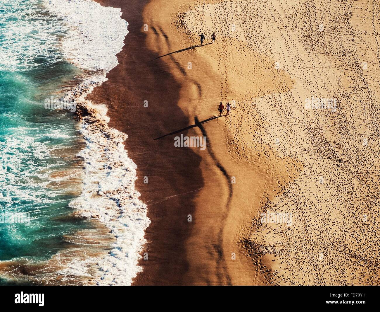 Elevated View Of Beach - Stock Image