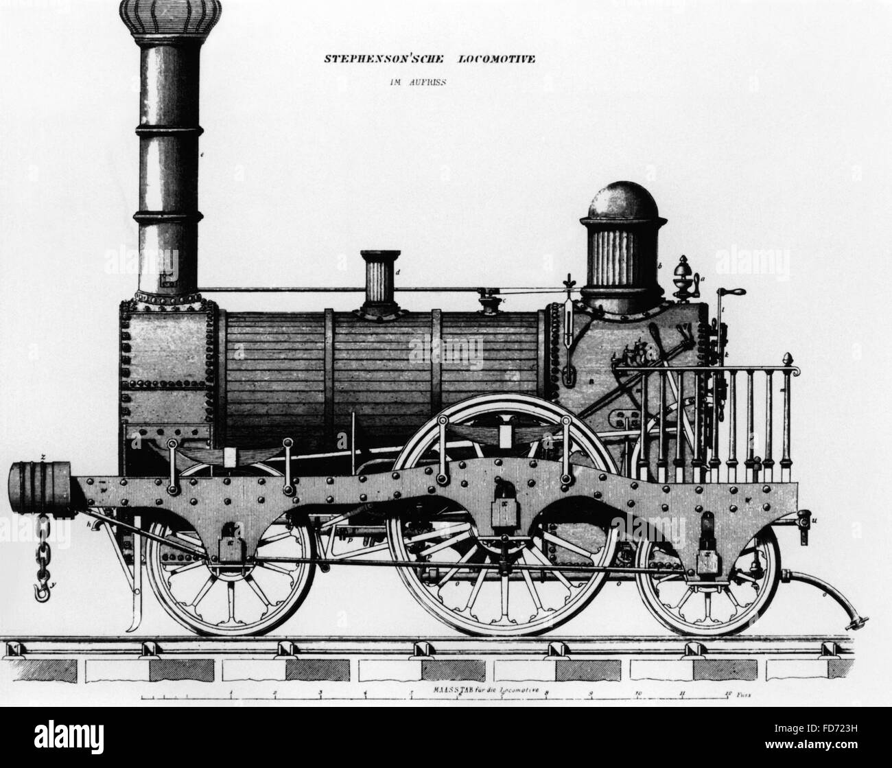 A train, around the 1810s - Stock Image