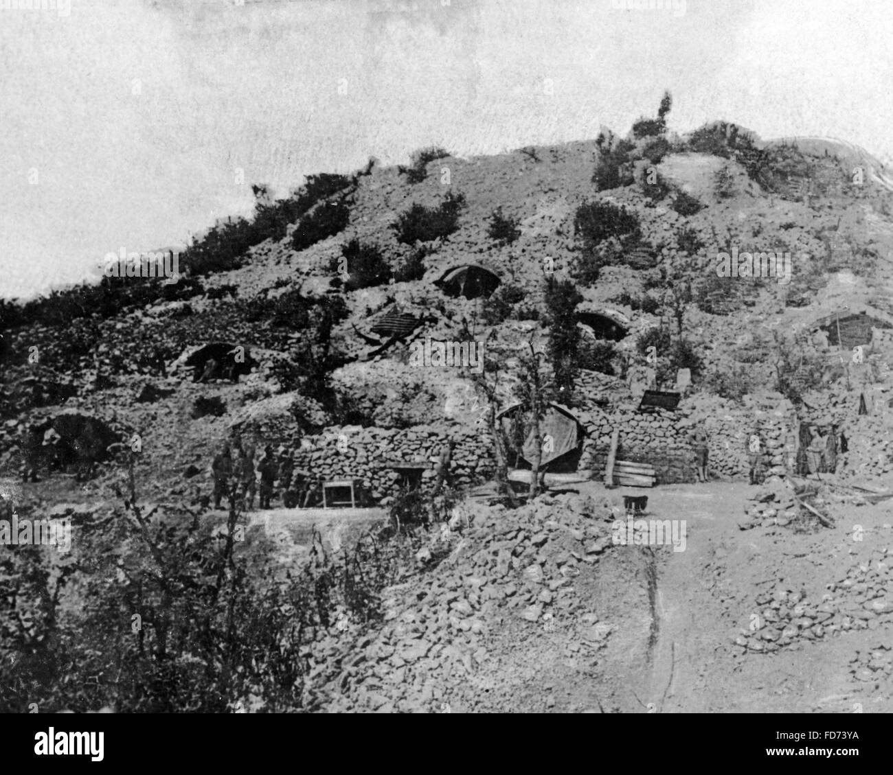 Austro-Hungarian emplacement, 1917 - Stock Image
