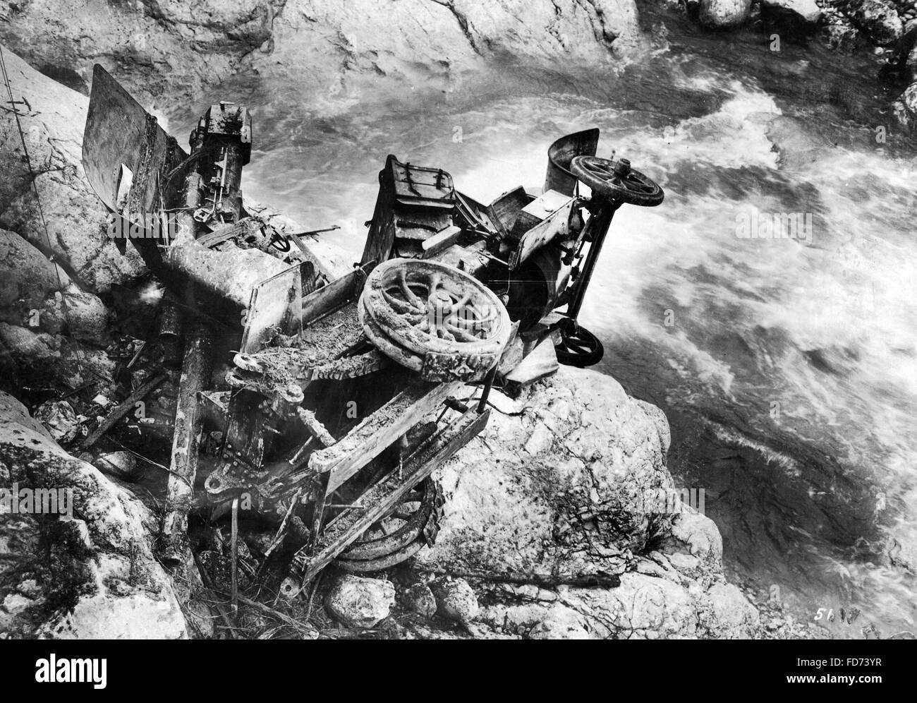 Italian car wreck, 1917 - Stock Image