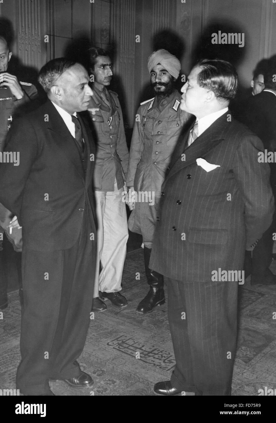 A.C.N Nambiar with Ambassador Oshima, 1944 - Stock Image