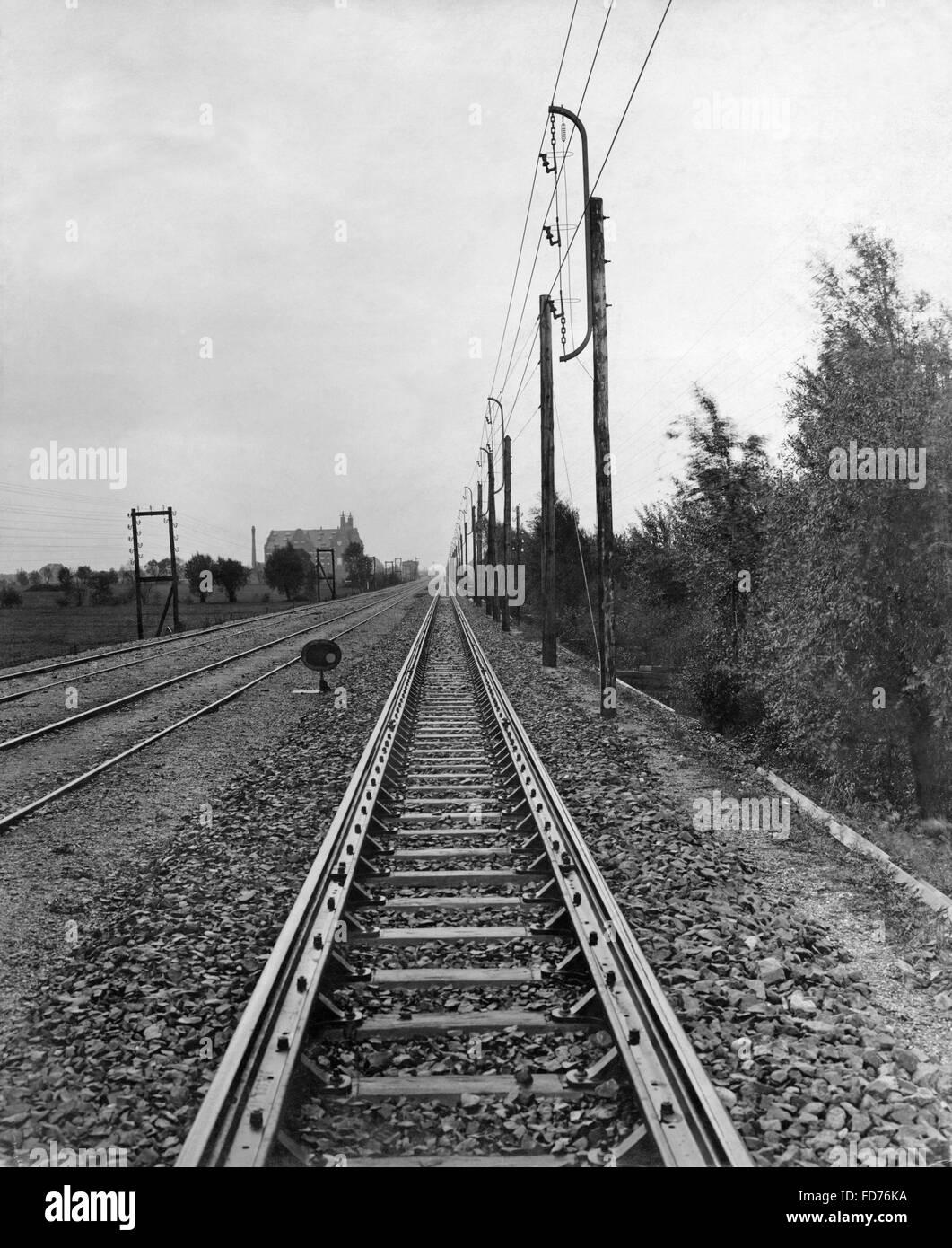 Tracks, 1905 - Stock Image