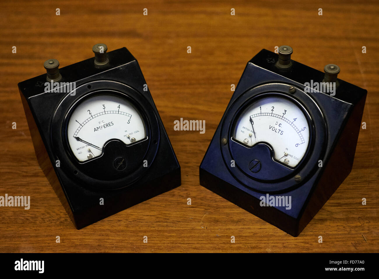 Ammeter Stock Photos Images Alamy Volt Meters Amp Ampere Meter With Pic A Pair Of Vintage Electrical An And Voltmeter Image