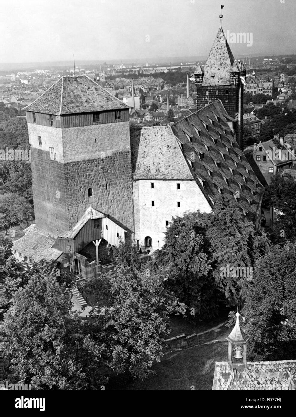Imperial stables in Nuremberg 1938 - Stock Image