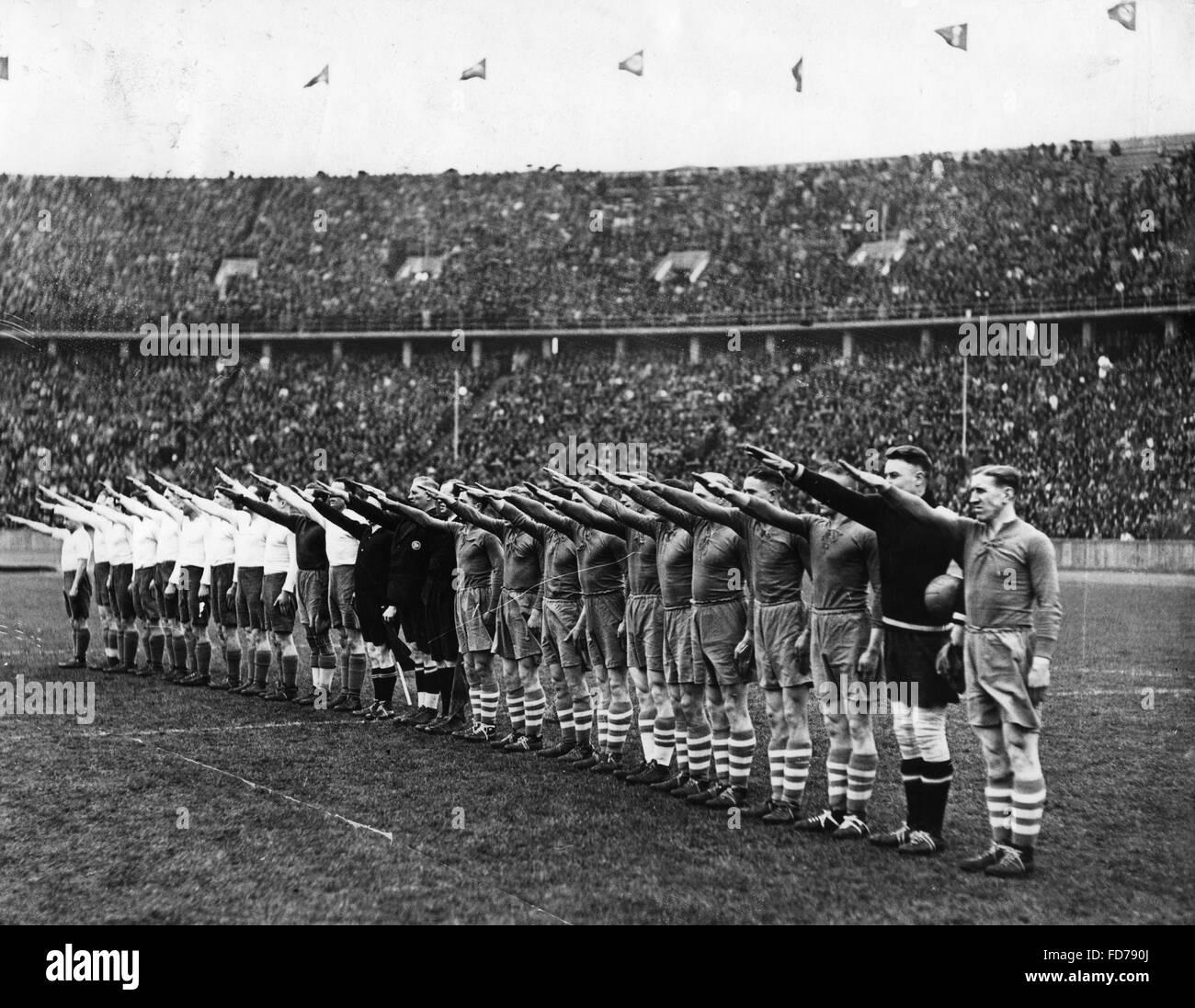 Hertha BSC - Schalke 04 1: 2, Olympiastadion Berlin, April 11, 1937 - Stock Image