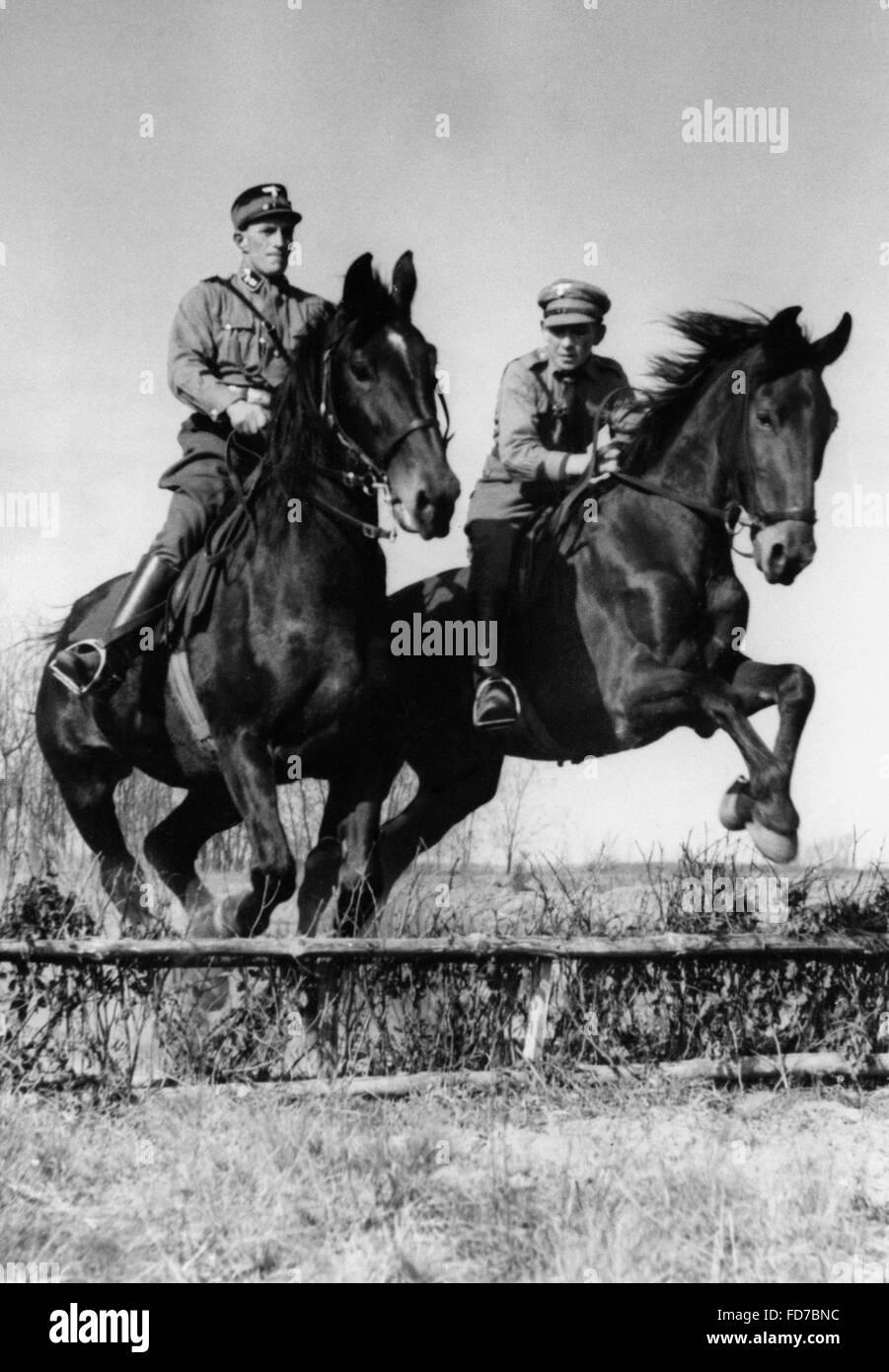SA men on horseback, 1938 - Stock Image