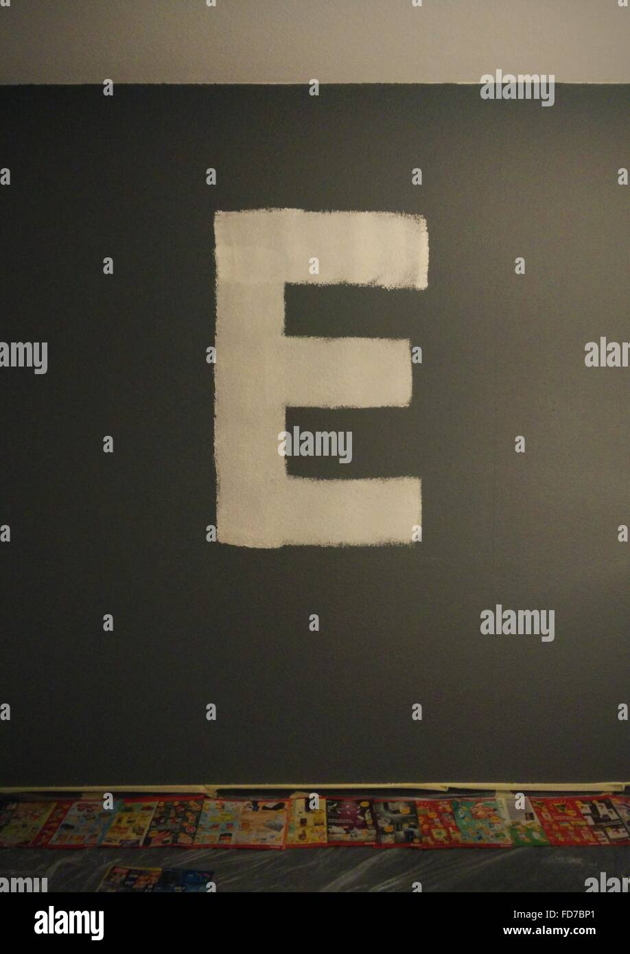 Letter E - Stock Image