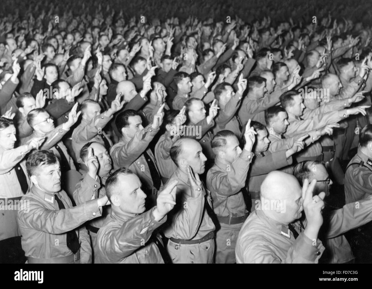 Swearing in of political leaders in Berlin, 1939 - Stock Image