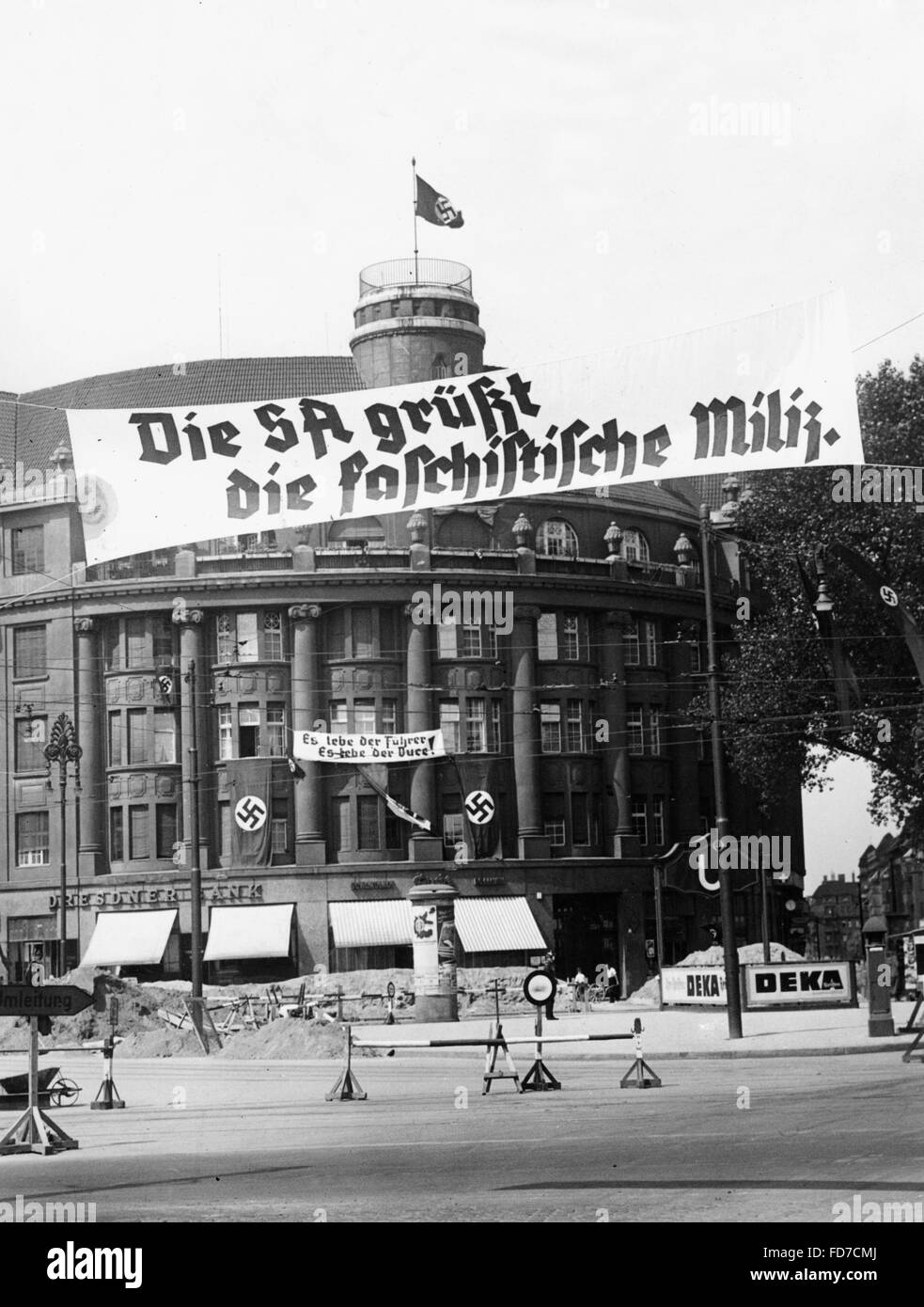 Visit of the Italian fascist militia in Berlin, 1938 - Stock Image