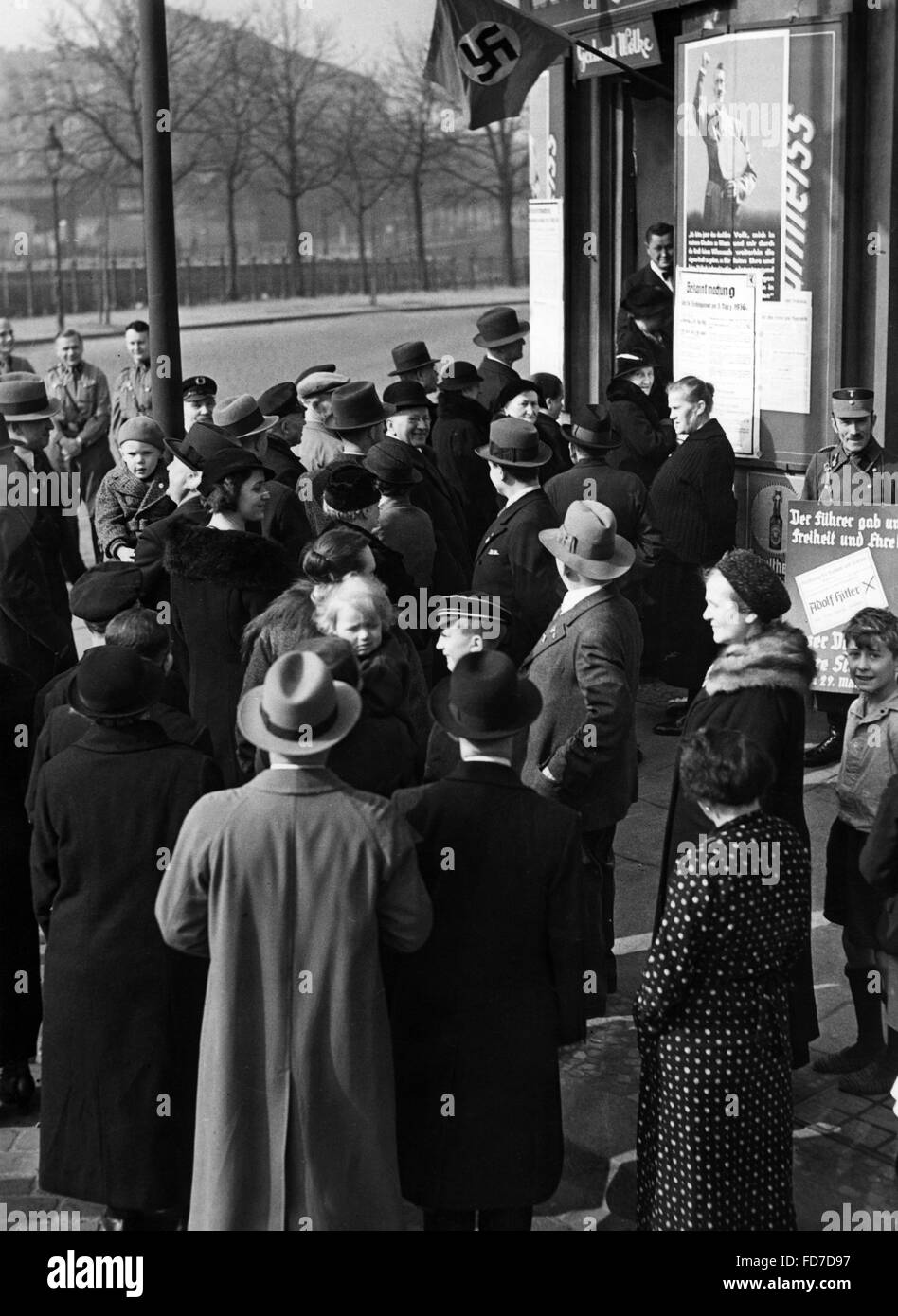 Polling station in Berlin for the Reichstag elections 1936 - Stock Image