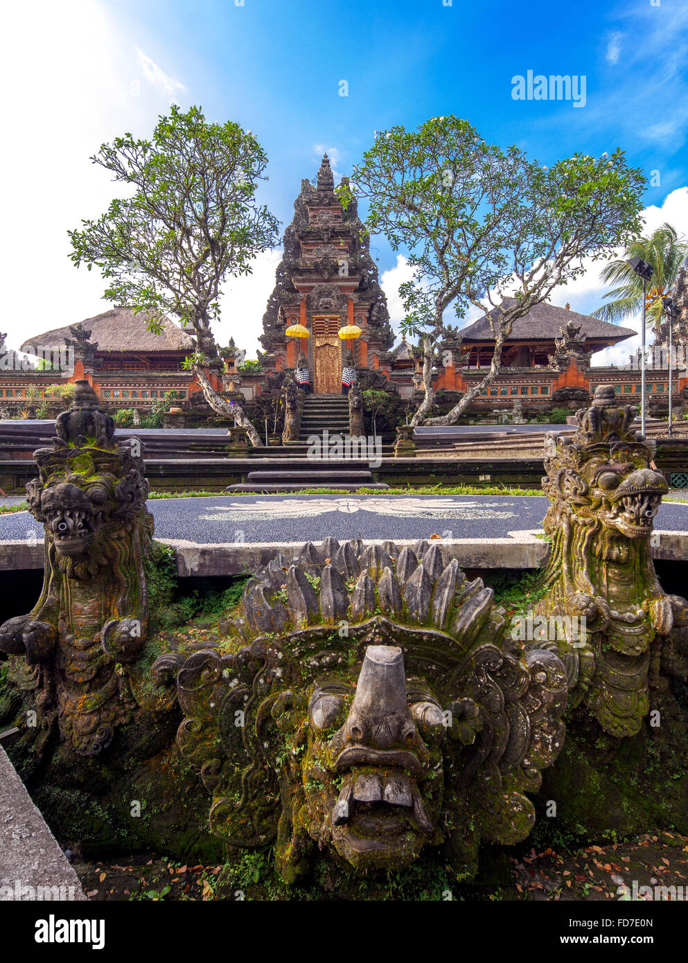 Temple Pura Taman Saraswati, Ubud, Bali, Indonesia, Asia - Stock Image