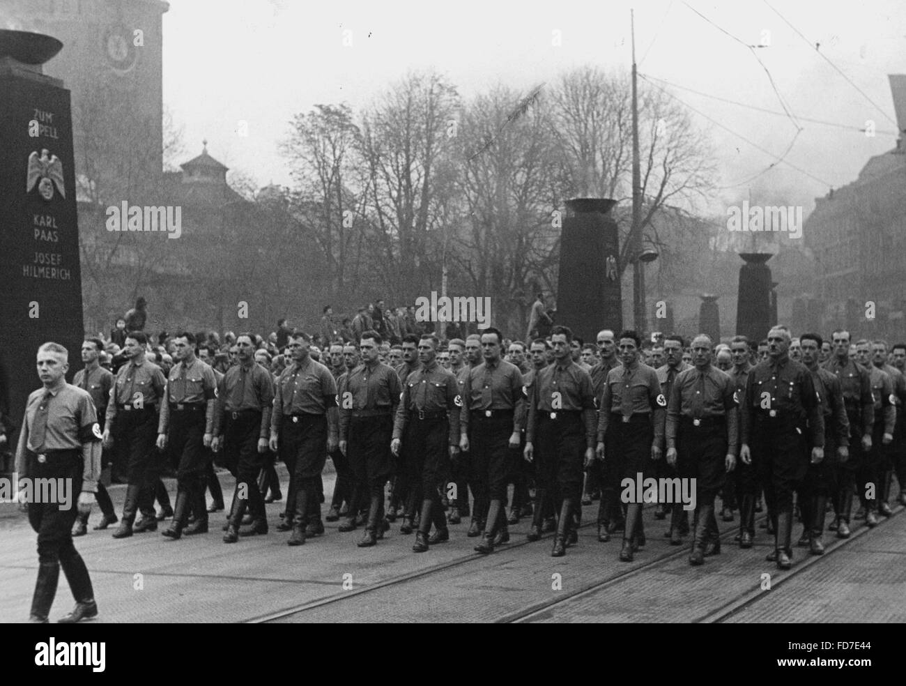 The annual commemorative march on 09 November, 1938 - Stock Image