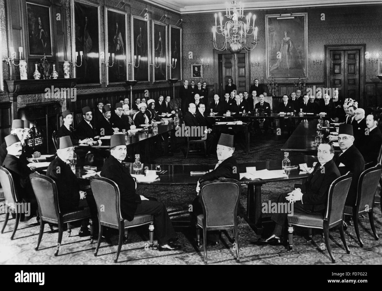 Palestine Conference in London on 07.02.1939 and in Washington on 17.10.1939 Stock Photo