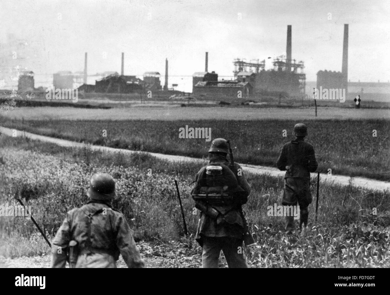 Reconnaissance unit of the Wehrmacht in Normandy, 1944 - Stock Image