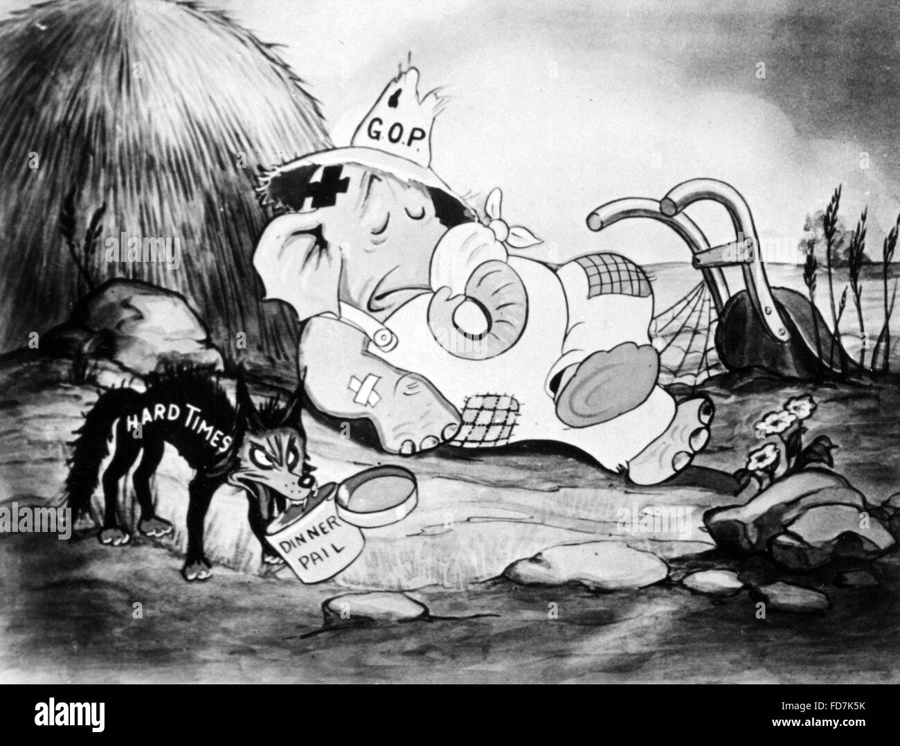 New Deal: Cartoon, 1936 - Stock Image
