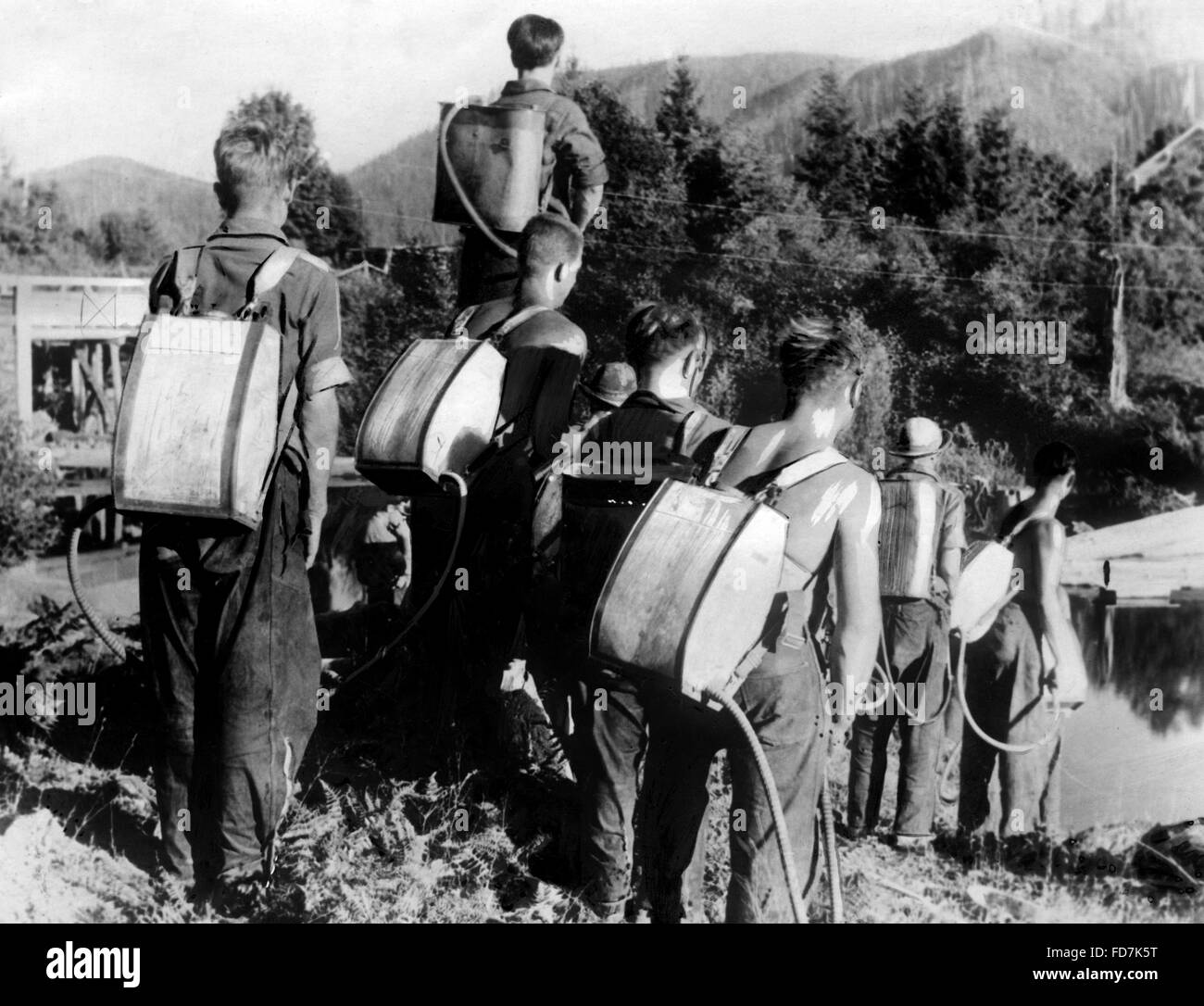 Civilian Conservation Corps: Roosevelt Forest Army, 1933 - Stock Image