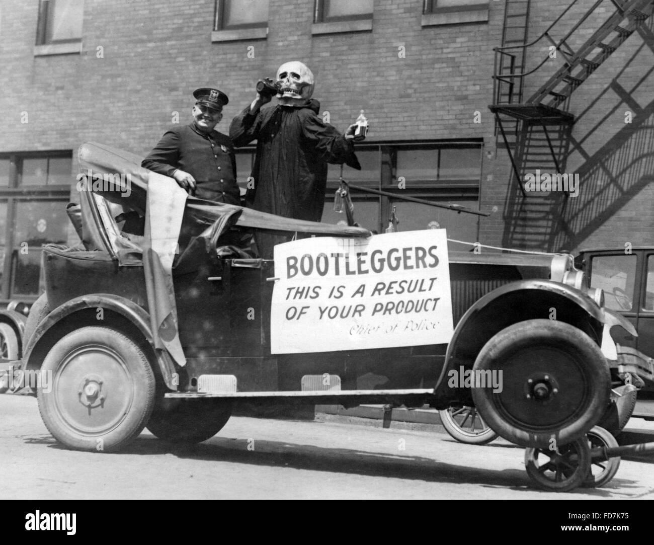 Prohibition: Car for a scare campaign in Amerika - Stock Image