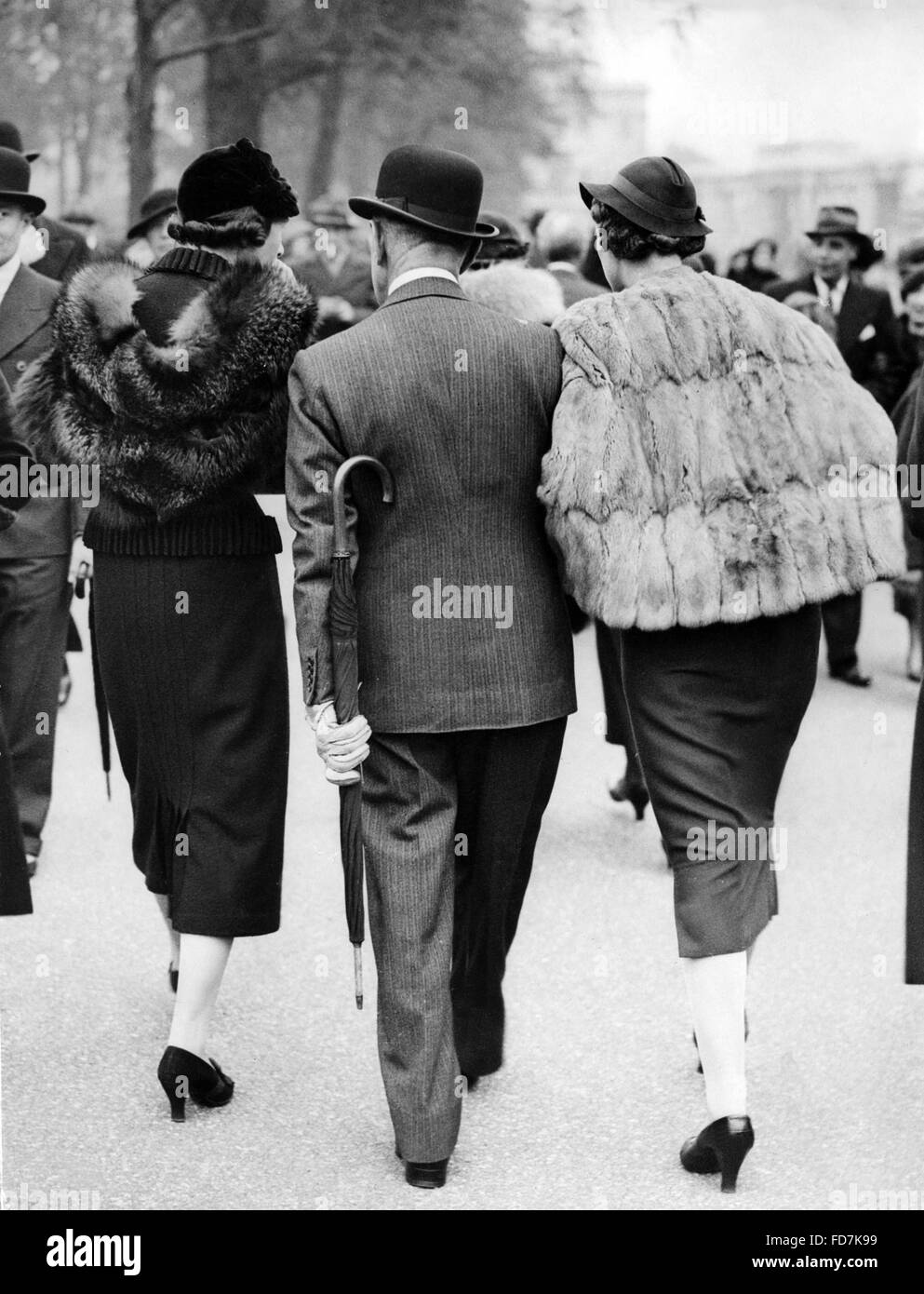 High society in England, 1935 - Stock Image