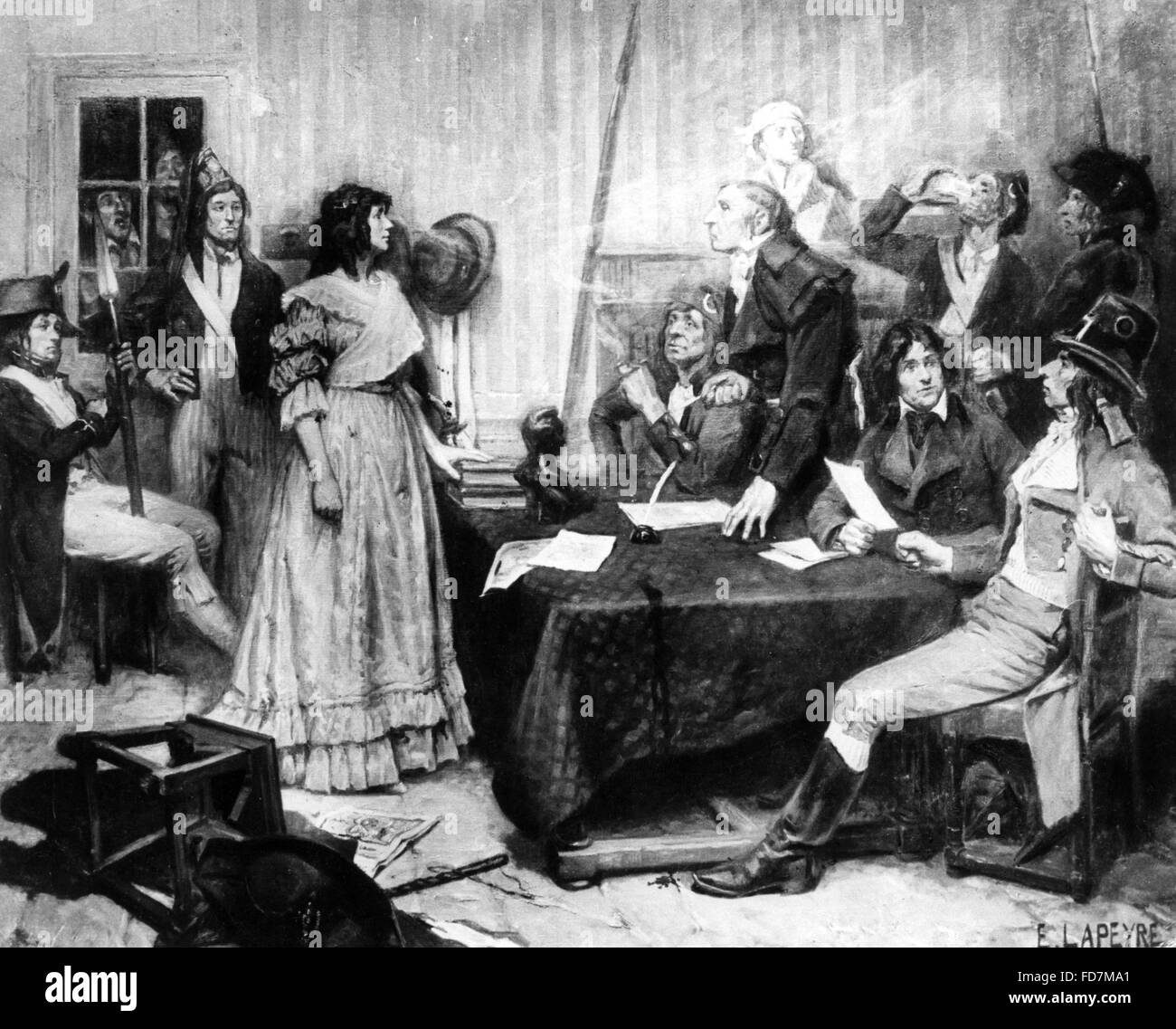 French Revolution: Revolution Tribunal, 1793-1799 - Stock Image