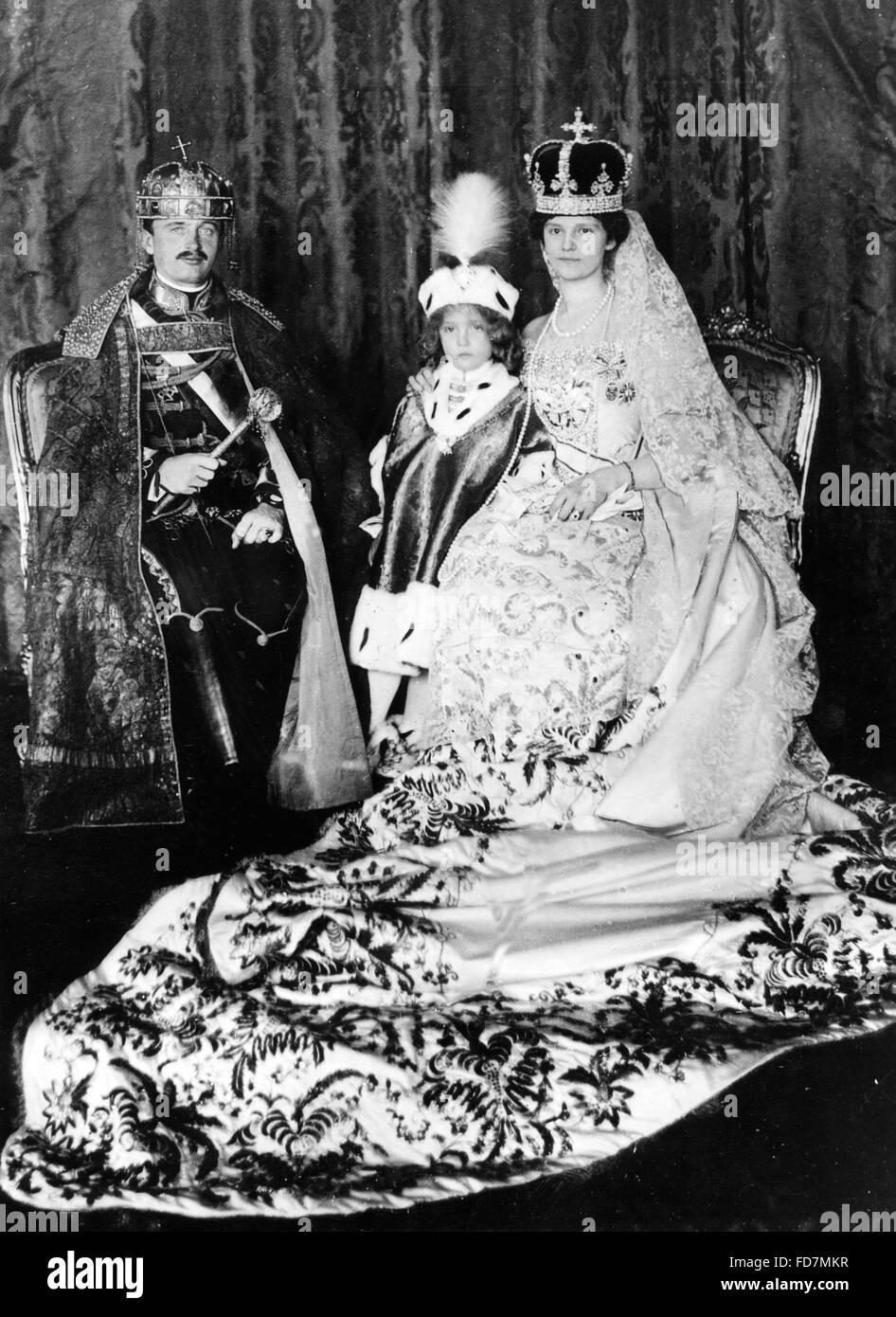 Coronation regalia of Emperor Charles I., 1916 - Stock Image