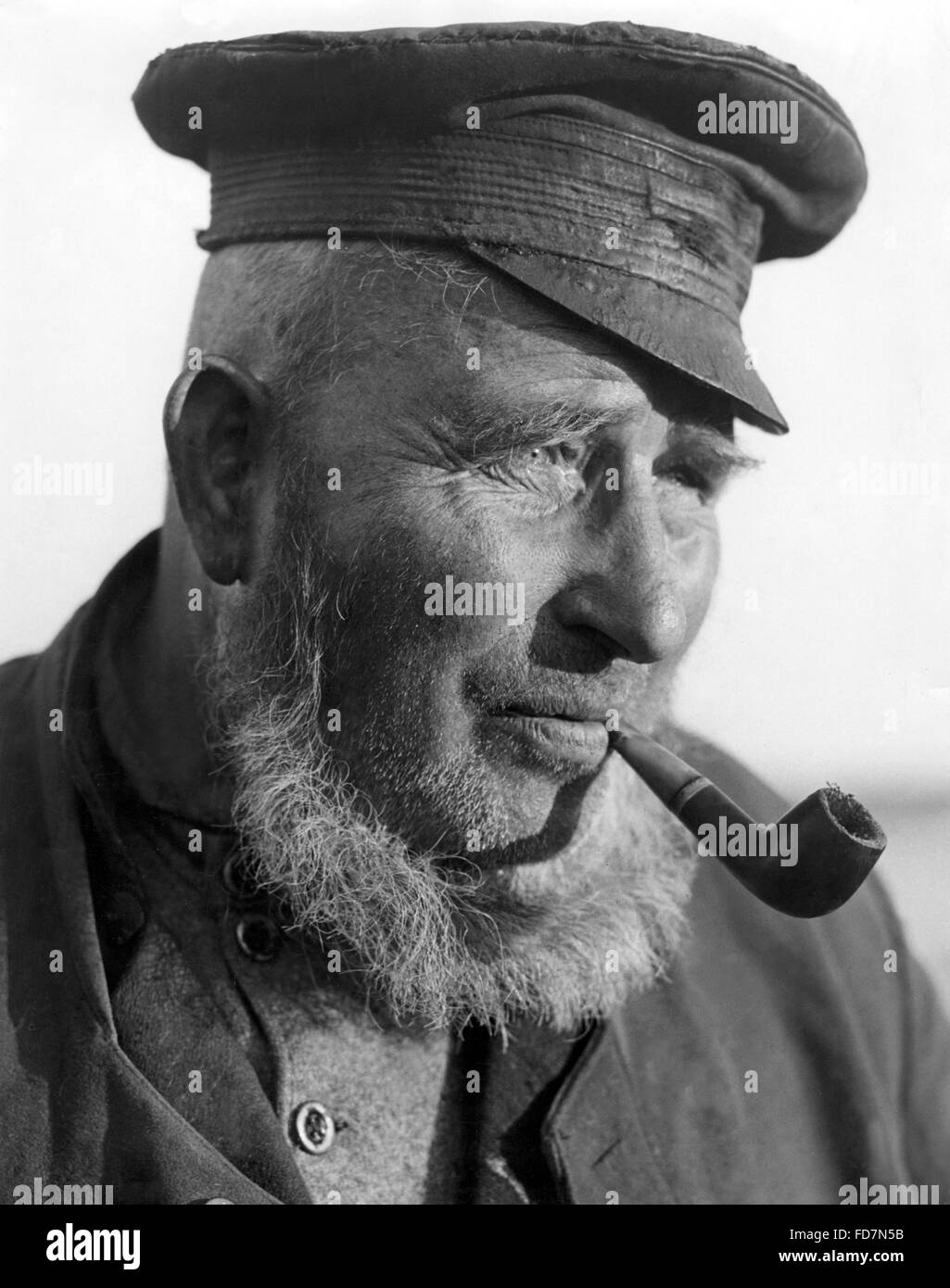 Old man from Farther Pomerania, 1933 - Stock Image