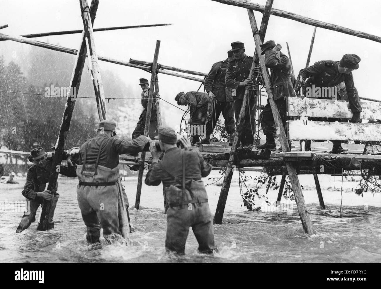 Manoeuvre of the mountain infantry in Mittenwald, 1937 Stock Photo