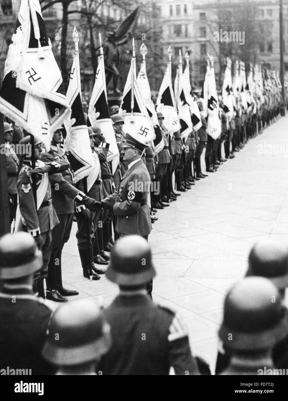 Handover of the new troops flags to the Wehrmacht, 1936 Stock Photo