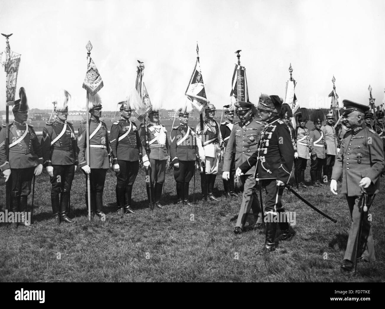 The 5th Waffentag of the German Cavalry in Hamburg, 1935 - Stock Image