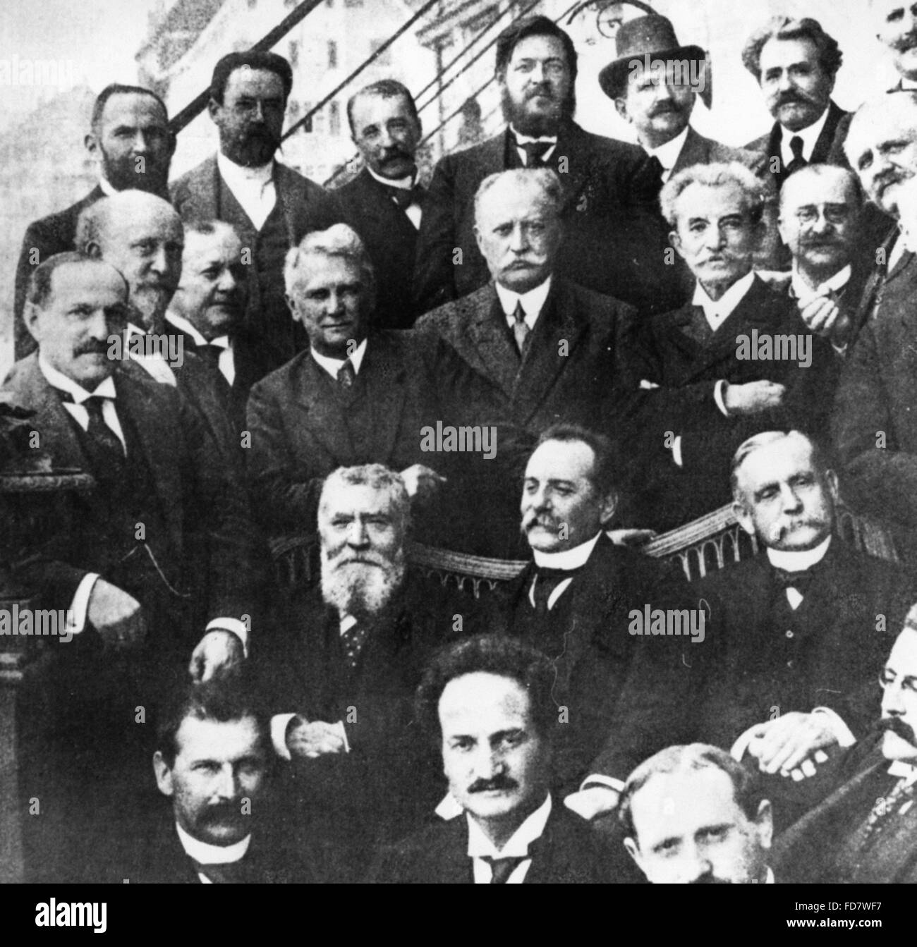 German-French socialists meeting in Bern, 1913 - Stock Image