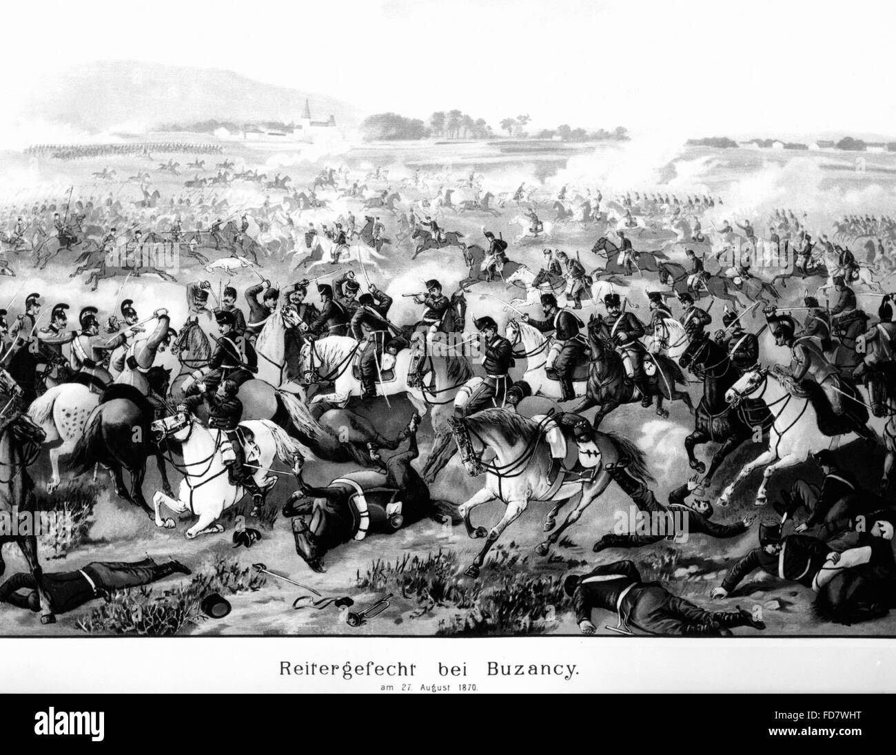Cavalry fight in the Franco-German War, 27.08.1870 Stock Photo