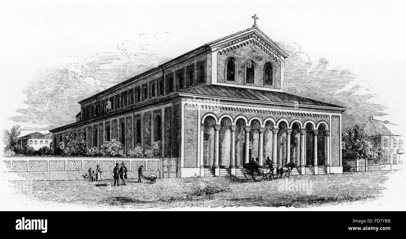 The Abbey of St. Boniface in Munich, 1844